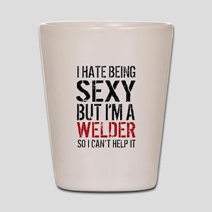 Sexy Welder Humor Shot Glass