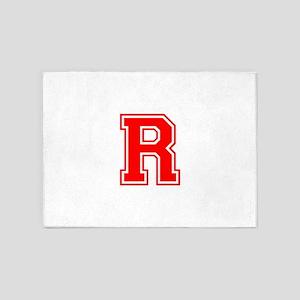 R-var red 5'x7'Area Rug