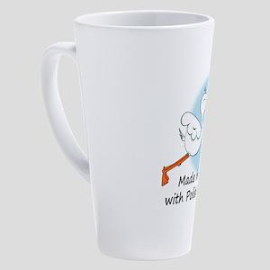 stork baby pl 2 17 oz Latte Mug