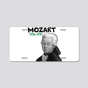 Mozart: Musical Genius Aluminum License Plate