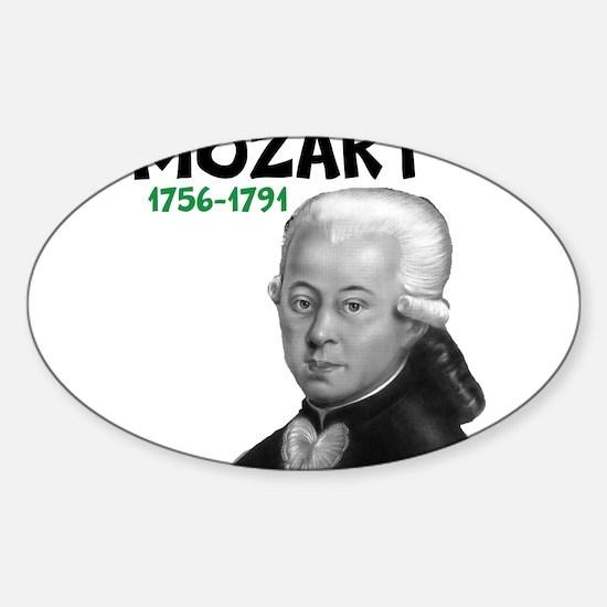 Mozart: Musical Genius Sticker (Oval)