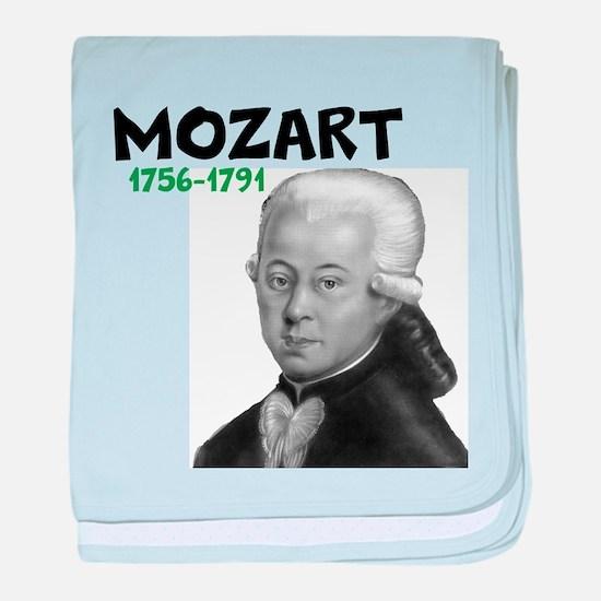 Mozart: Musical Genius baby blanket