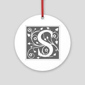 S-ana gray Ornament (Round)