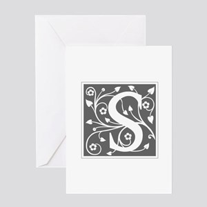 S-ana gray Greeting Cards