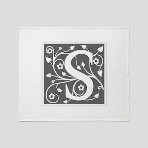 S-ana gray Throw Blanket
