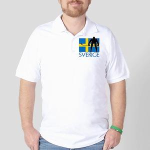 Sverige Ishockey Golf Shirt