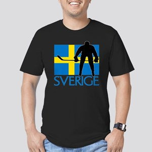 Sverige Ishockey Men's Fitted T-Shirt (dark)