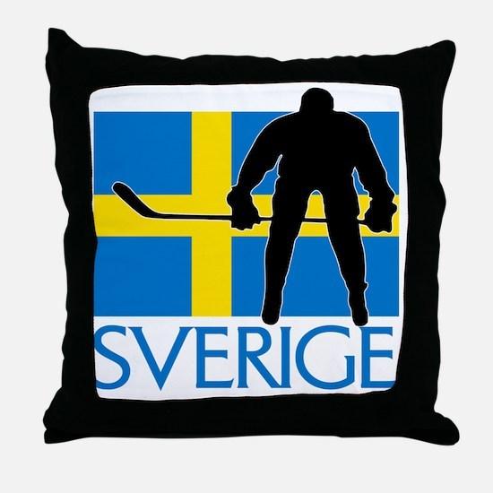 Sverige Ishockey Throw Pillow