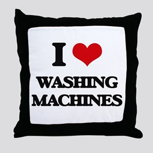I love Washing Machines Throw Pillow