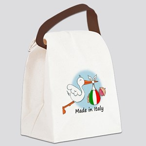 stork baby italy Canvas Lunch Bag