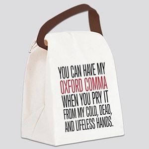 Oxford Comma Funny Canvas Lunch Bag