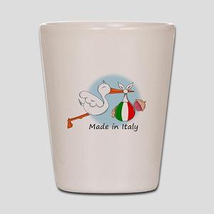 stork baby italy Shot Glass