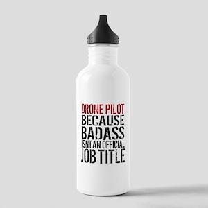 Badass Drone Pilot Hum Stainless Water Bottle 1.0L