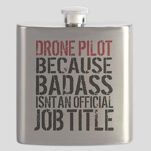 Badass Drone Pilot Humor Flask