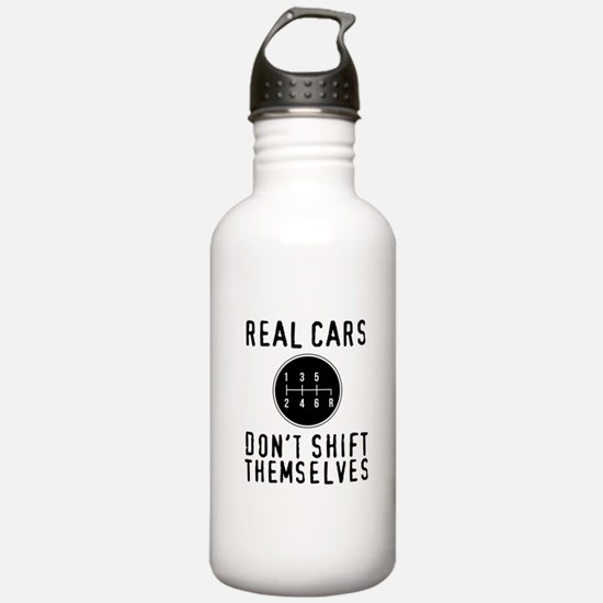 Real Cars Don't Sh Water Bottle