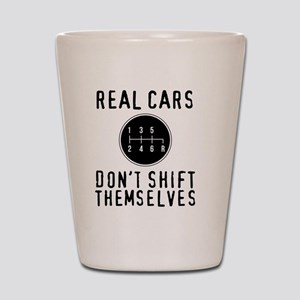 Real Cars Don't Shift Themselves Shot Glass
