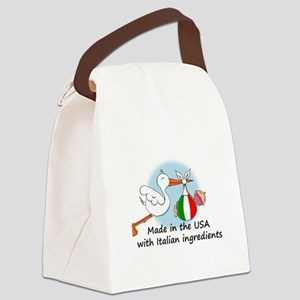 stork baby italy usa Canvas Lunch Bag