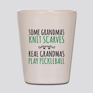 Real Grandmas Play Pickleball Shot Glass