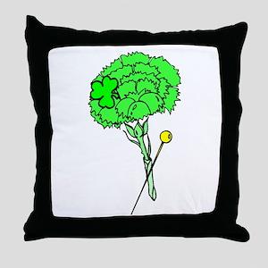 Irish Boutonniere Throw Pillow