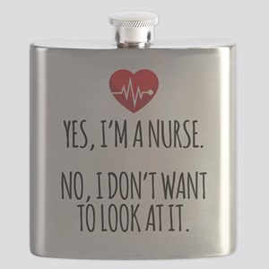 Yes I'm a Nurse Funny Flask