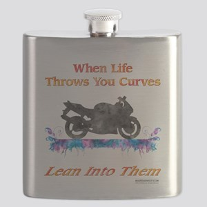 Lean Into Curves Watercolor Flask