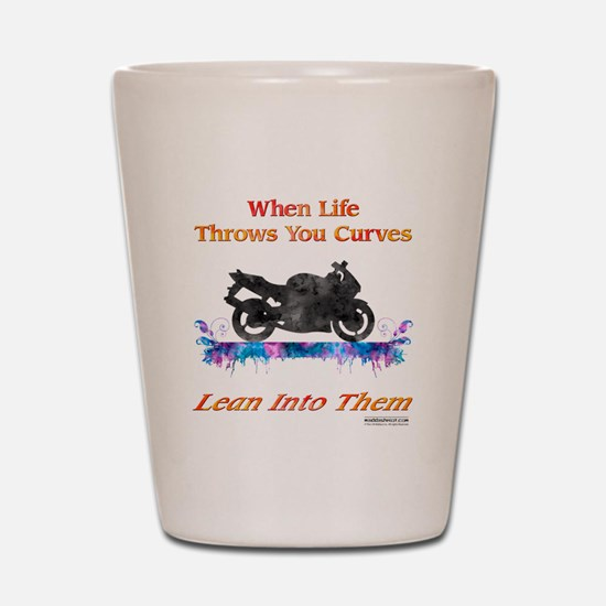 Lean Into Curves Watercolor Shot Glass
