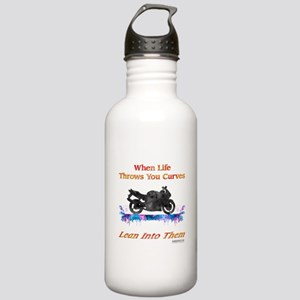 Lean Into Curves Watercolor Water Bottle