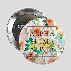 "Alpha Sigma Alpha Floral 2.25"" Button (10 pack)"