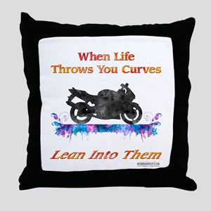 Lean Into Curves Watercolor Throw Pillow