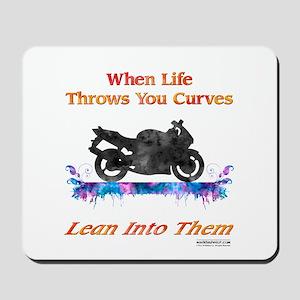 Lean Into Curves Watercolor Mousepad