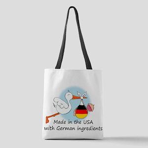 stork baby de2 Polyester Tote Bag