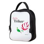 Lady Triker Watercolor Rose Neoprene Lunch Bag