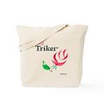 Lady Triker Watercolor Rose Tote Bag