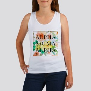 Alpha Sigma Alpha Floral Women's Tank Top