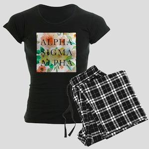 Alpha Sigma Alpha Floral Women's Dark Pajamas
