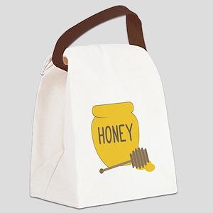 Sweet Honeypot Jar Canvas Lunch Bag
