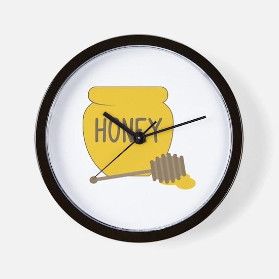 Sweet Honeypot Jar Wall Clock