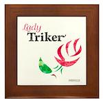 Lady Triker Watercolor Rose Framed Tile