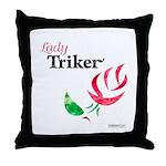 Lady Triker Watercolor Rose Throw Pillow