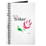 Lady Triker Watercolor Rose Journal