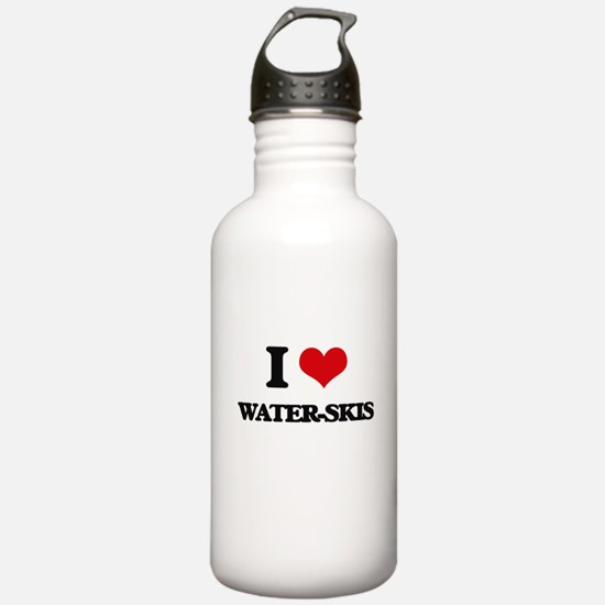 I love Water-Skis Water Bottle