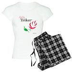 Lady Triker Watercolor Rose Pajamas