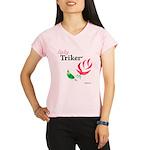 Lady Triker Watercolor Rose Performance Dry T-Shir