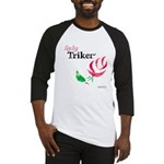 Lady Triker Watercolor Rose Baseball Jersey