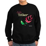 Lady Triker Watercolor Rose Sweatshirt