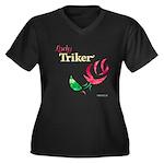 Lady Triker Watercolor Rose Plus Size T-Shirt