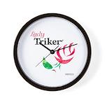 Lady Triker Watercolor Rose Wall Clock