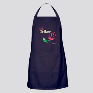Lady Triker Watercolor Rose Apron (dark)