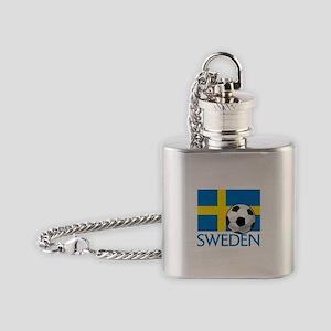 Sweden Soccer Flask Necklace