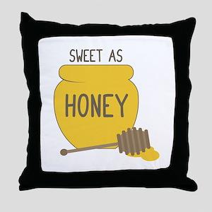 Sweet as Honeypot Throw Pillow